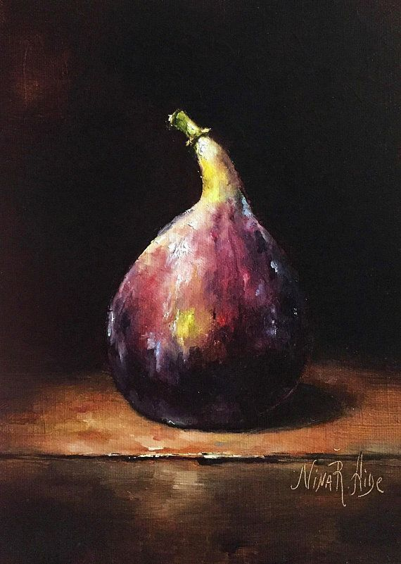 Still Life Fig Original Oil Painting By Nina R Aide Original Fine Art Fruit Smal Still Life Fig Original Oil Paint 2020 Soyut Yagliboya Resim Sanati Naturmort