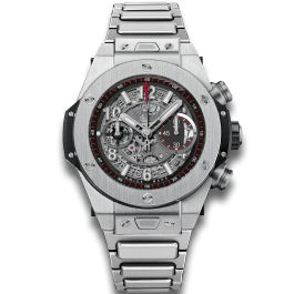 Details and features of Big Bang Unico Titanium bracelet, luxury chronograph by Hublot. Find out where to buy and prices of Hublot Big Bang watches.