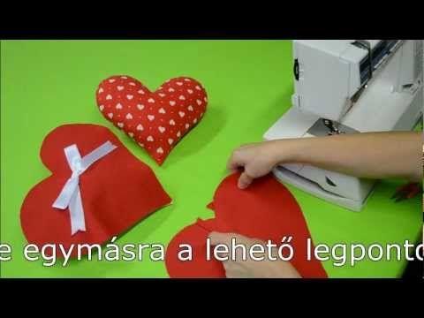 Varrás - Varrótanfolyam - Hogyan varrjunk szív alakú párnahuzatot?