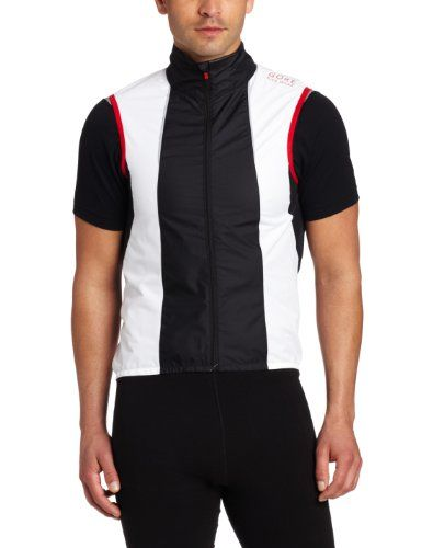 Gore Bike Wear Men's Xenon 2.0 Active Shell Vest, White/Black, Large. Mesh inserts in back for ventilation. 95 g / 3.35 oz. (size L). Must have: Super lightweight, versatile piece with mesh on the neck to keep your body's 'engine' air-cooled. Front zip with semi-lock slider. Item Dimensions: width: 1200, height: 100. Long back. Slim fit. Zip pocket on back.