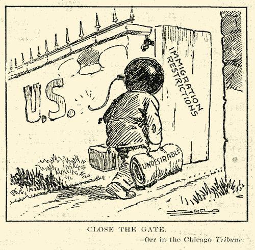 Red Scare Political Cartoons | Description Close the gate - First Red Scare political cartoon.jpg