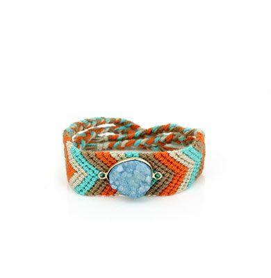 Wayuu Armband met Edelsteen 116 - €39,95