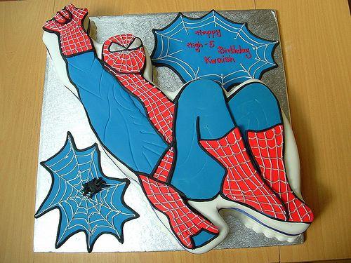 Spider man cake 1 | deborah hwang | Flickr