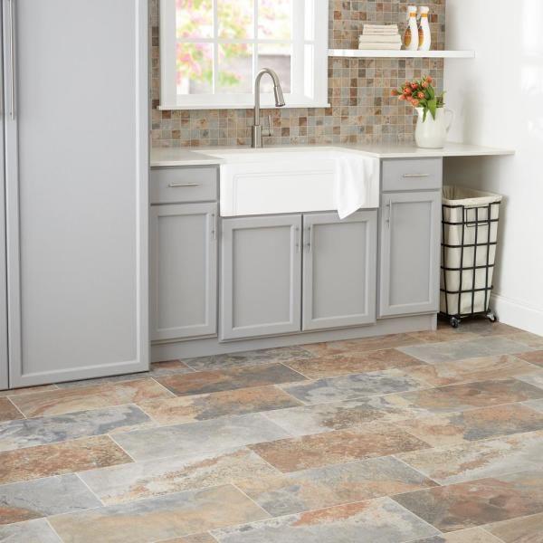 Marazzi Vitaelegante 12 In X 12 In X 6 35mm Ardesia Ceramic Mosaic Floor And Wall Tile 1 Sq Ft Piece Ve1822hd1p2 The Home Depot In 2021 Ceramic Tile Floor Kitchen Kitchen Flooring Ideas Inexpensive Flooring