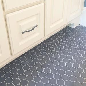 Blake Shaw Homes Bathrooms Gray Hex Tile Decor