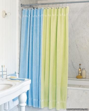 Standard Shower Curtain Length Terry Cloth Bib Pattern