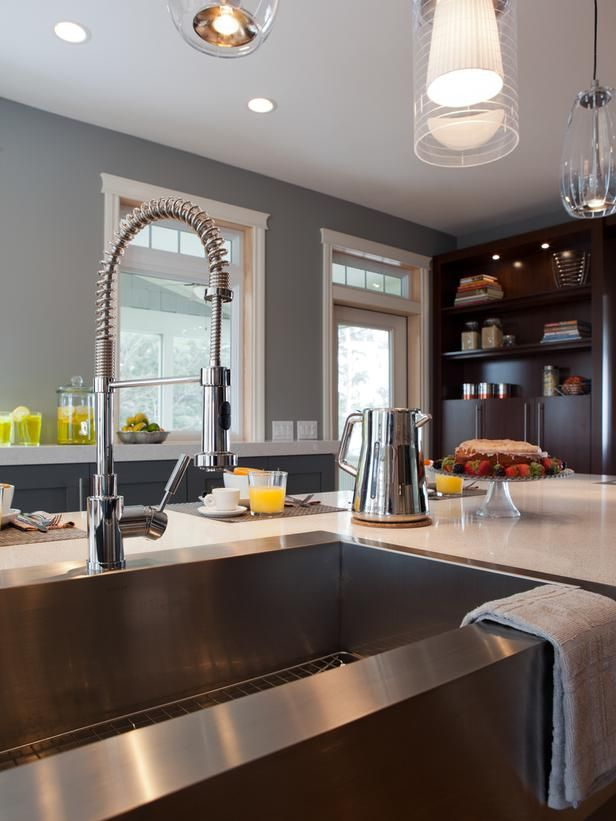 best 17 industrial kitchen faucets images on pinterest   home decor