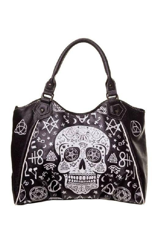 Black Skull Pentagram Handbag