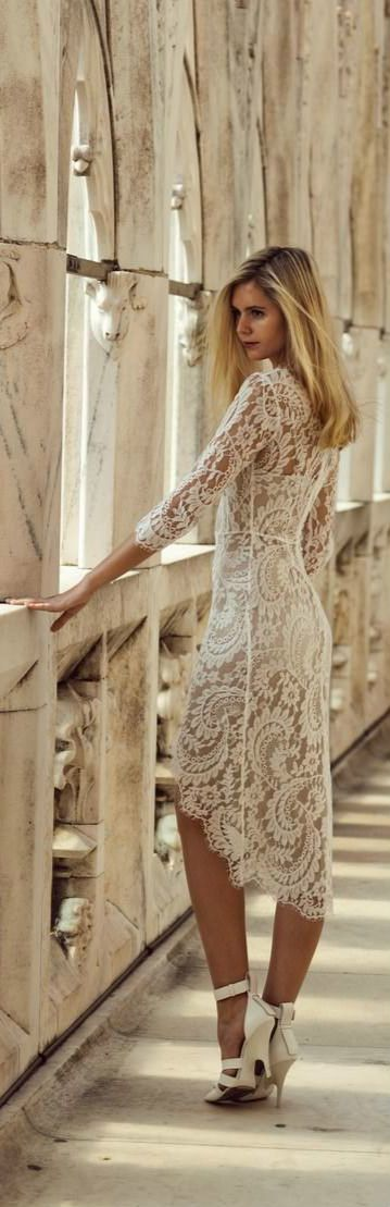 Tapered Lace Dress -- I love to wear lace or sheer, flowy clothes when I feel like dressing in a romantic or Victorian inspired way. The style and gorgeous lace of this dress would definitely fit with one of my romantic clothing moods!