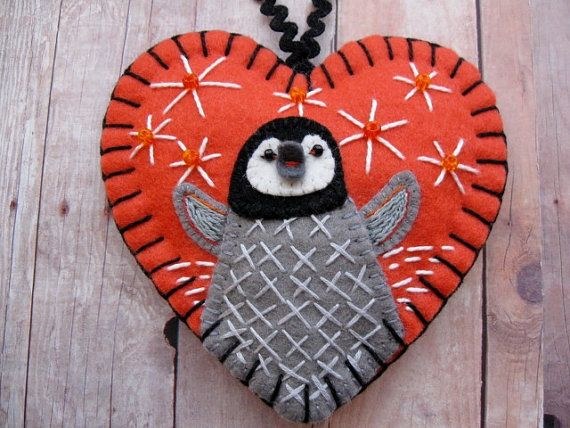 Baby Penguin Ornament by SandhraLee on Etsy, $19.50                                                                                                                                                                                 More
