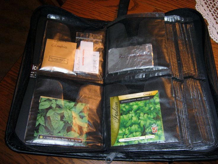 Store extra seeds in a CD case.