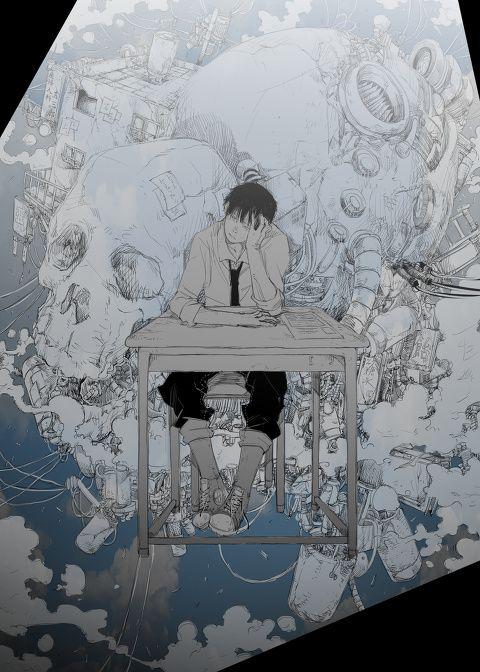 「骸骨の居る空間」/「ライオネル山崎」のイラスト [pixiv]