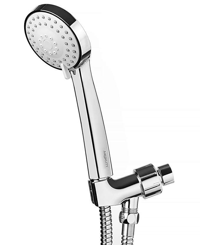Aquality Handheld Shower Head High Pressure With Powerful Multi Functions Spray 3 1 Including Long Flexible Hose Adjustable Bracket And Extra Mount Holder Chro Handheld Shower Head Hand Held Shower Shower Heads