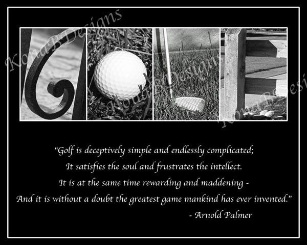 GOLF Photo Alphabet Print with Arnold Palmer Quote - 8x10. $20.00, via Etsy.