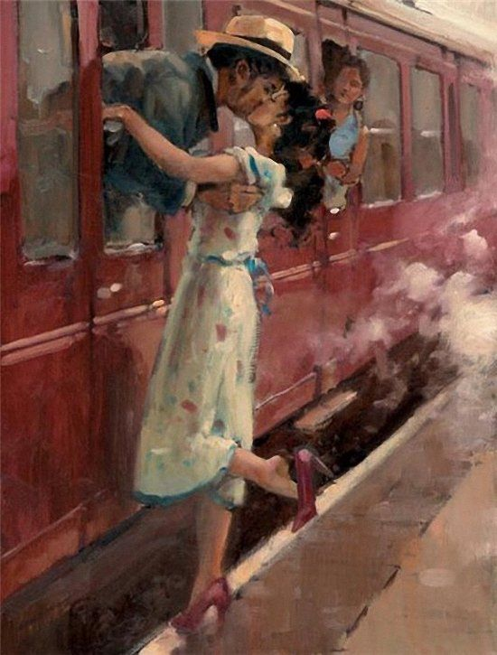 Raymond Leech The Last Kiss. 1949. It wasn't like this, but I remember the last kiss, like it was yesterday.