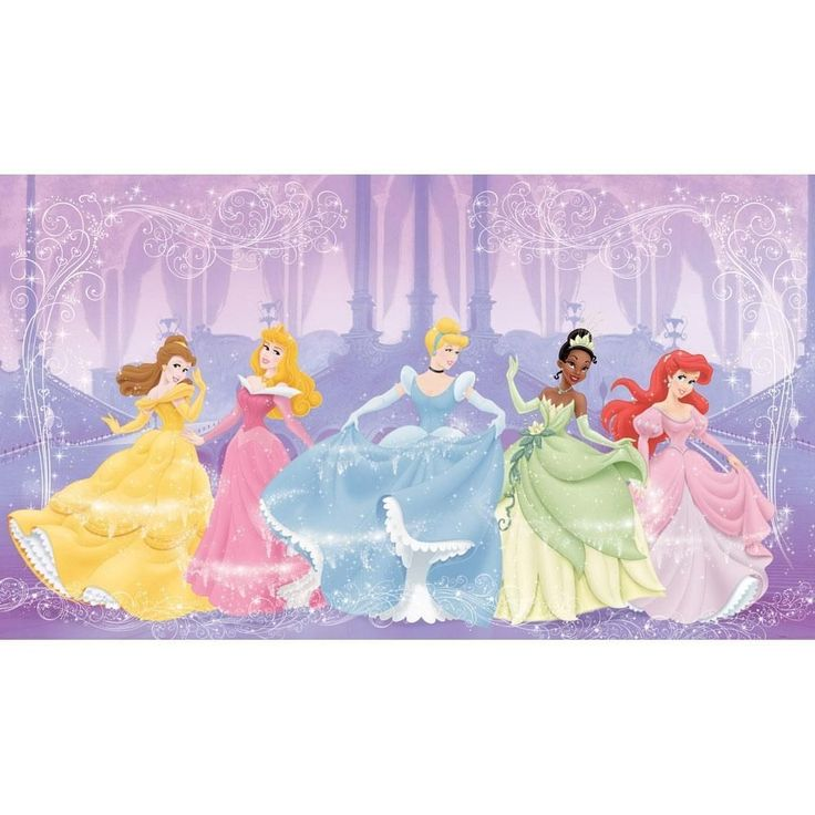 Disney Perfect Princesses Large Prepasted Wallpaper Mural #ChairRailIdeas