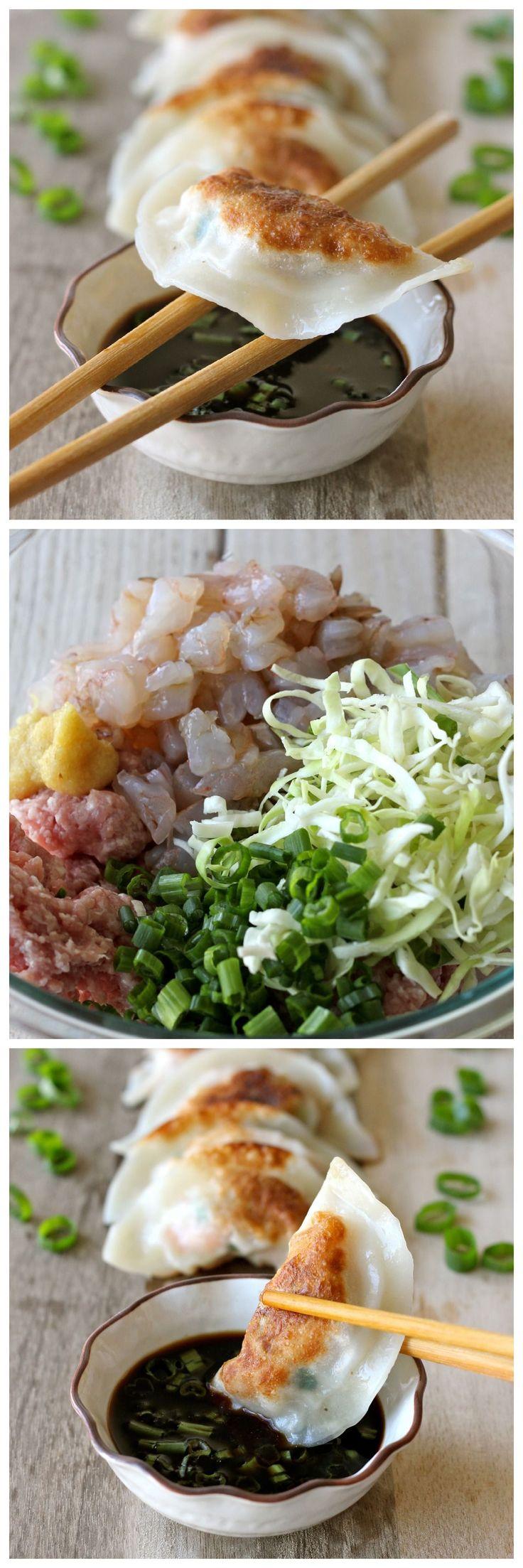 Shrimp dumplings.