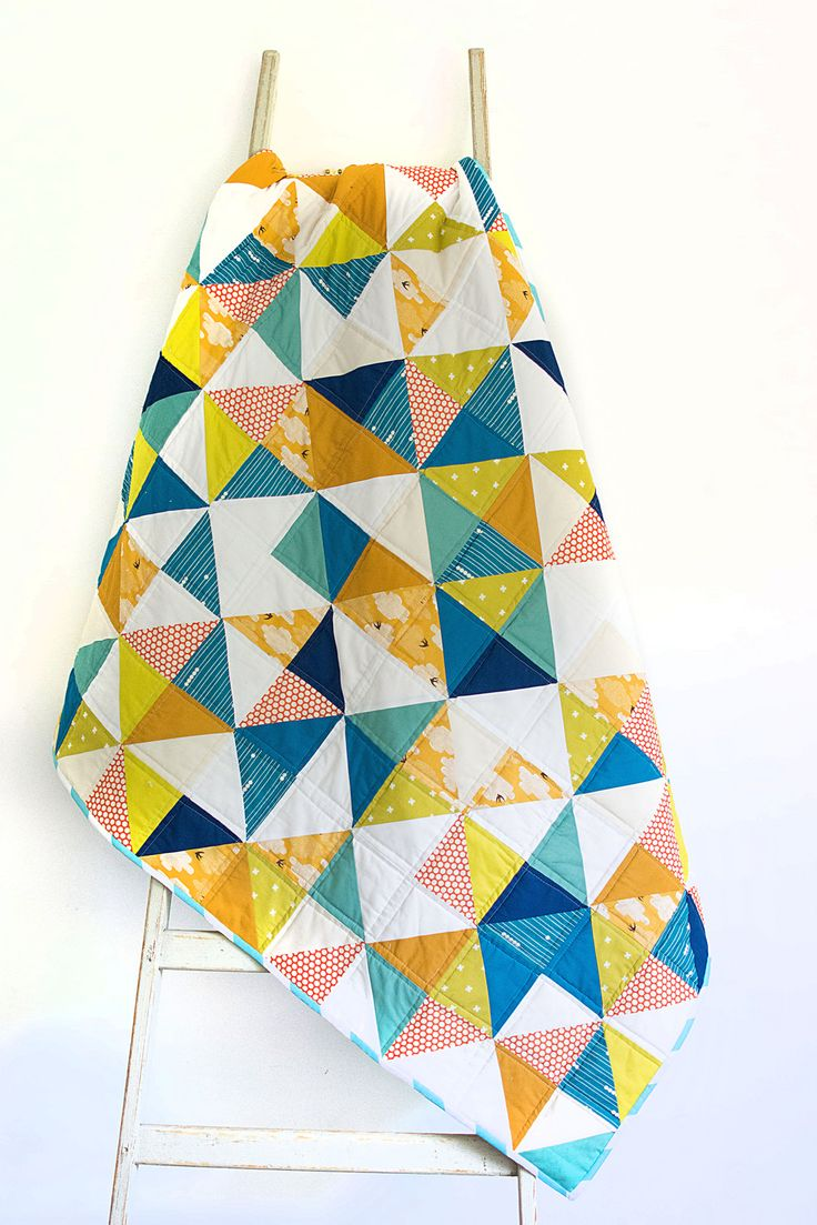 Autumn half square triangle quilt | Flickr - Photo Sharing!