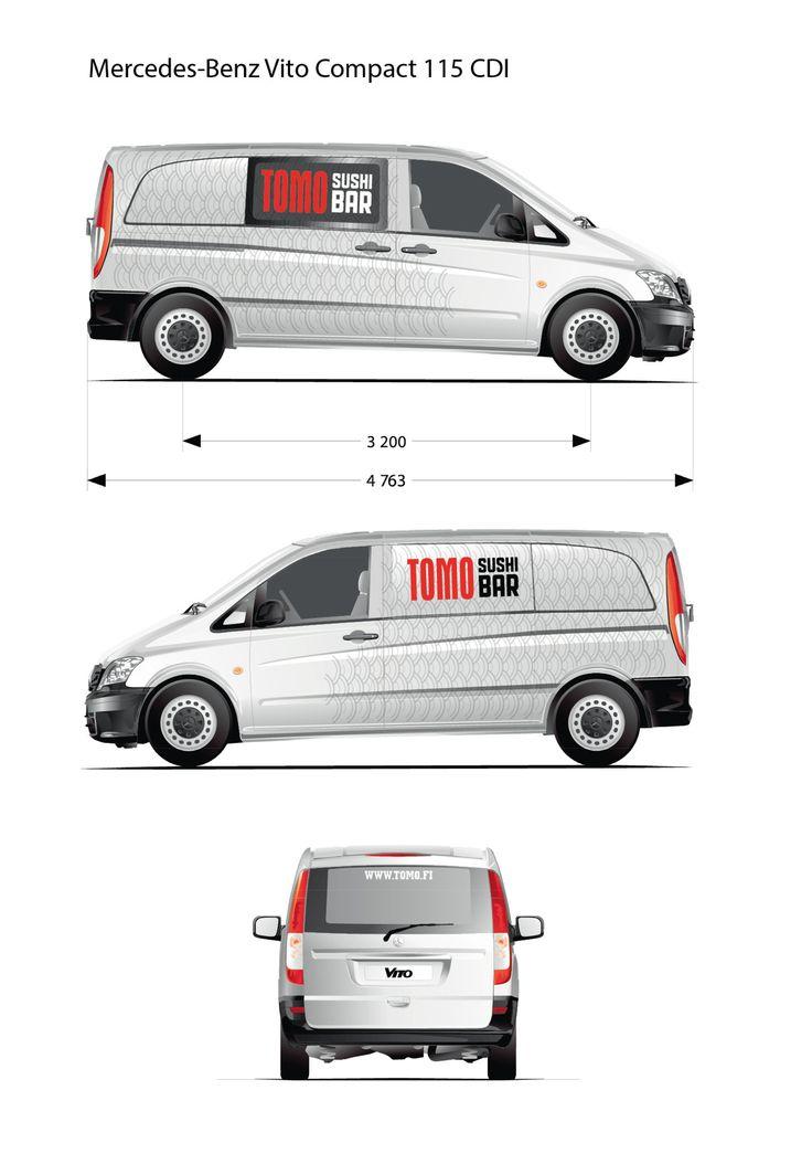 Vehicle graphics for Tomo Sushibar