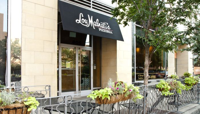 Lou Malnatti's pizza steps from 1345 S Wabash in Chicago's South Loop