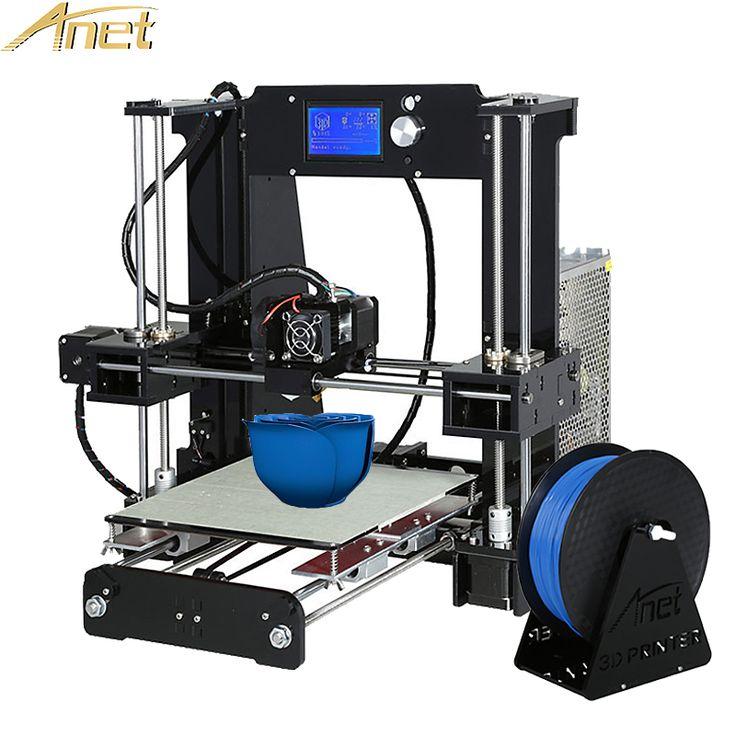 Chaude Anet A6 impresora 3d Imprimante Auto Niveau A8/Normal A8 Haute-précision Reprap i3 3D imprimante Kit DIY Avec Livraison Filament