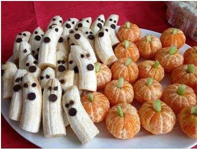 Ghosts and pumpkins very good idea and Trinity would eat it all!