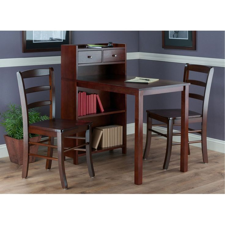 """The overall size of the table is 40""""W x 24""""D x 41. 9""""H, Material: Solid / Composite Wood."""
