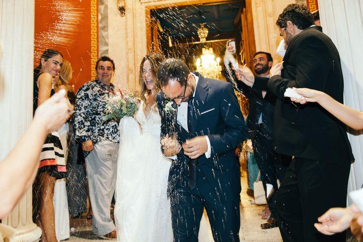 lafete, Syros, Cyclades, wedding, St Nicholas church, bride and groom, rice ceremony