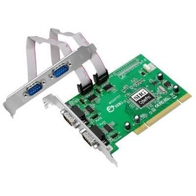 SIIG IO Card JJ-P49012-S7 CyberSerial 4S 950 PCI 4-Port Serial Adapter with 16950 Controller Card by SIIG. $107.13. Description:SIIG's CyberSerial 4S 950 PCI is an excellent solution designed to add four additional 9-pin RS232 serial ports for connecting multiple serial-based devices to your PCI-enabled desktop computer. This 4-port serial adapter card comes with four high-speed 16950 UART serial ports supporting data transfer rate of up to 920Kb/s. The serial ports can work a...