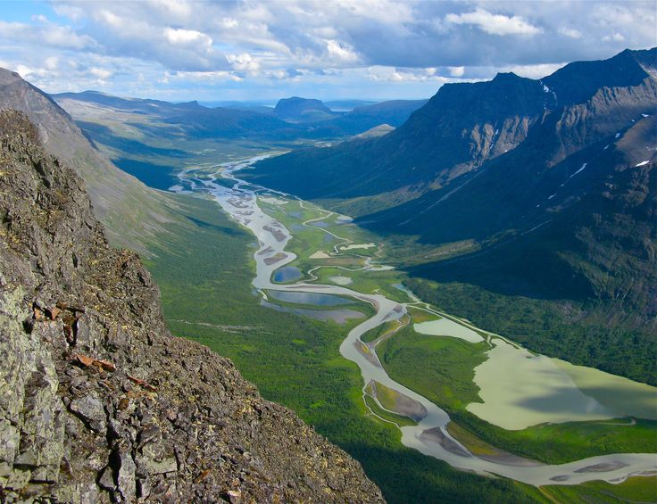 Rapa Valley in east part of Sarek National Park, World Heritage Laponia