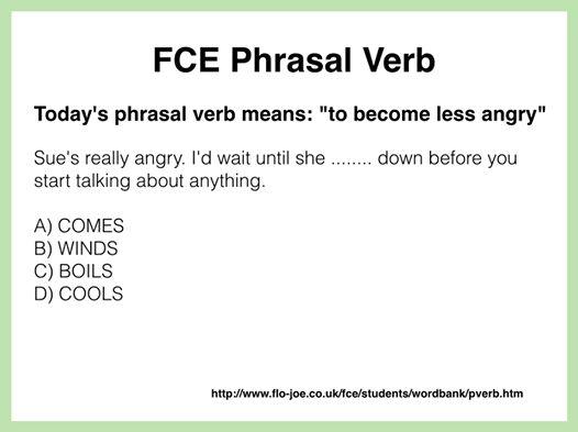 FCE Use of English: Phrasal Verb