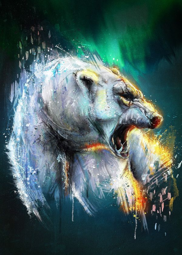 Bearealis. Animals Poster Print | metal posters | Bear spirit ...