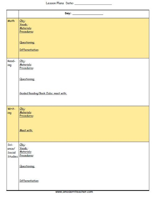 Collaborative Teaching Lesson Plan Template ~ Pinterest the world s catalog of ideas