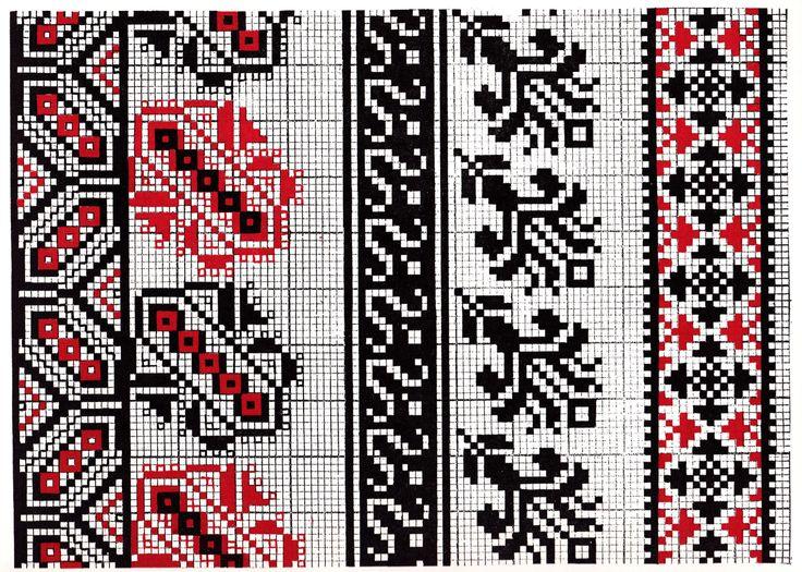 Traditional Romanian patterns - inspiration for Dare to Rug Restless  #daretorug #daretodesign #inspiration #handtuftedrug #design #pattern #romanian