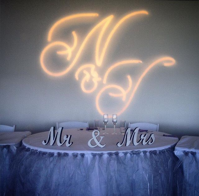 Now heres something a bit different - personalised gobo's! N&T Nate & Tascha. #TSHweddings #gobo #lighting #wedding