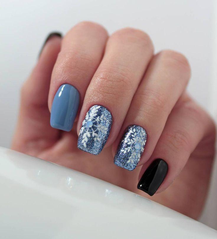 """Polubienia: 194, komentarze: 4 – Eliza Korol (@nail_look_eliza) na Instagramie: """"#zimowepaznokcie #winternails #paznokcie #nail #nails #mani #manicure #fashion #fashionnails…"""""""