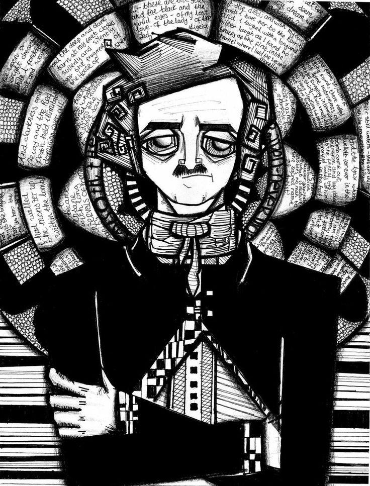 Edgar Allan Poe by La-Nueva-Parca