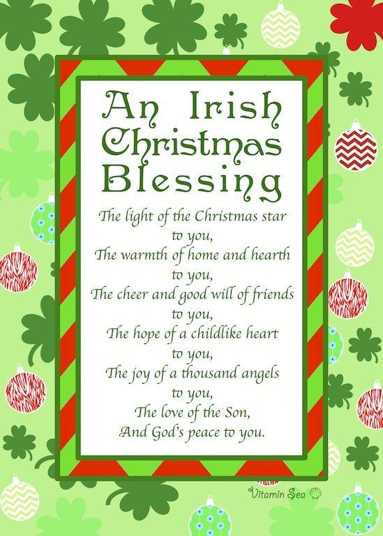 An Irish Christmas Prayer www.VitaminSeaDesign.com