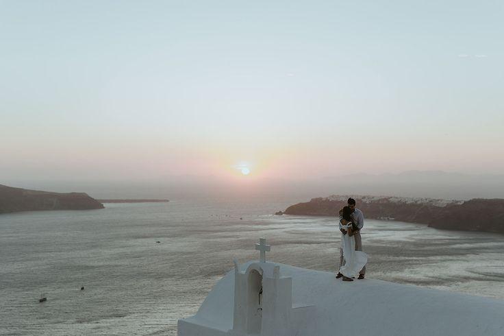 Engagement in Santorini island, Greece