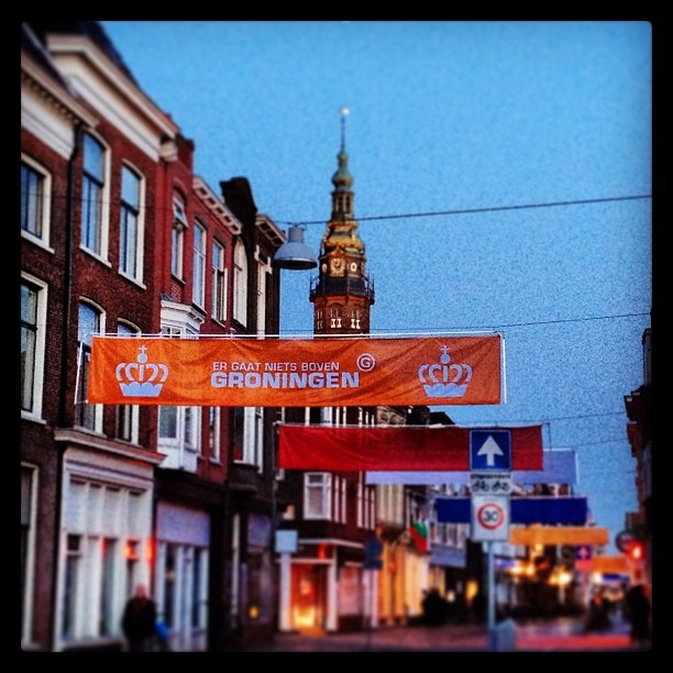 Decoration in the city of Groningen for Queen's Day 2013