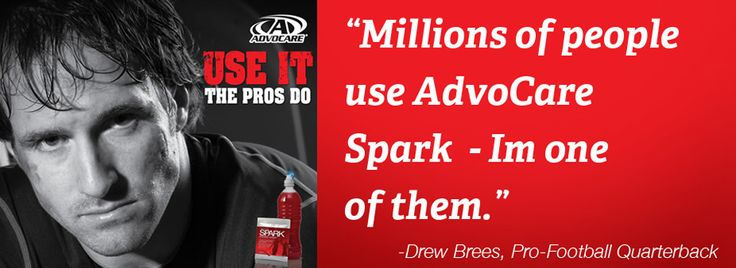 I would say that Spark/Advocare definitely does Drew good! 413 yards and 4 touchdows...Heck of a game tonight Saints! If you watch any of the locker room interviews, you may even catch a peek of Spark in his locker. If it's good enough for Drew and millions, why not you too???  www.advocare.com/13054033