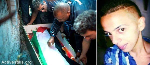 PHOTO. Murdered Muhammed Abu Khdeir, 16, being laid to rest in occupied E. #Jerusalem. #News #WorldNews