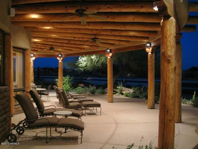 Nice Wrap Around Terrace Love The Wooden Ceiling Southwestern Home Adobe House New Mexico