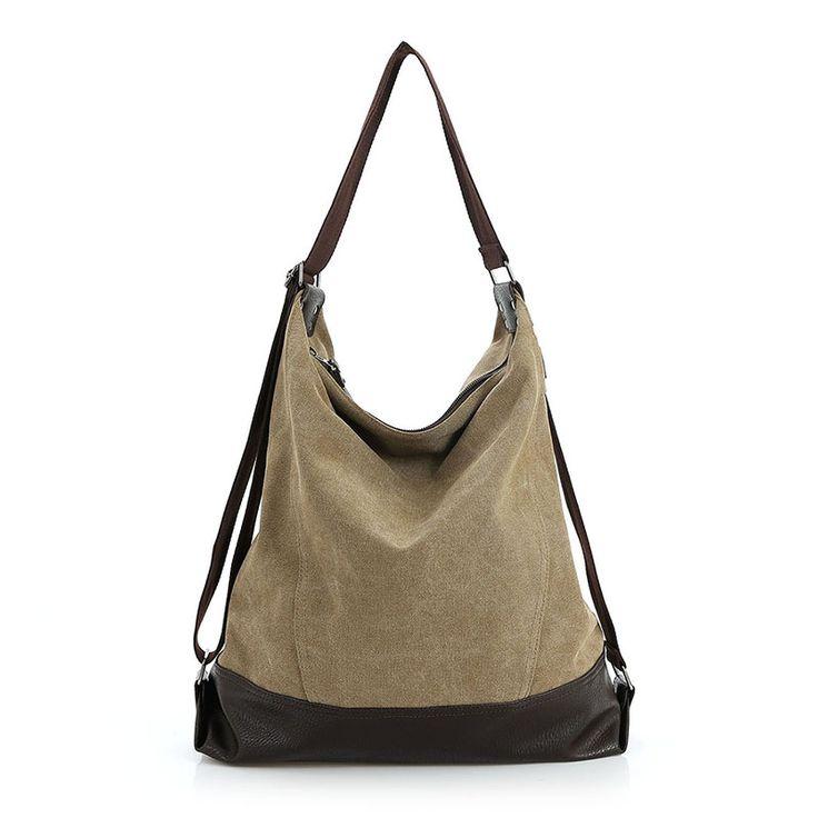 Canvas Women Bag Casual Messenger Bags Tote Hobo Buckets Designer Brand Vintage Fashion Women's Crossbody Bag Shoulder Handbags //Price: $39.84 & FREE Shipping //     #womenhandbags