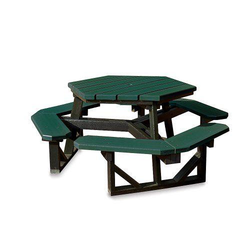 Table De Picnic : Jayhawk Plastics Hex Picnic Table - 6L - Standard - Black Frame ...