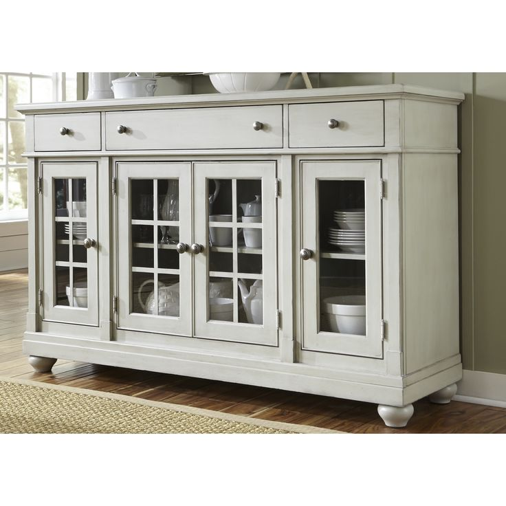 Liberty Cottage Harbor Dove Grey Buffet