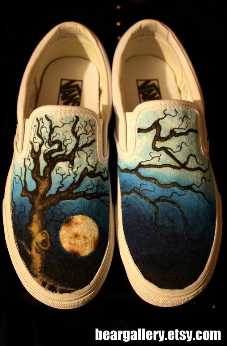 Custom Vans-- Oak Tree. $85.00, via Etsy.: Vans Oak, Custom Vans Shoes, Oak Vans, Hands Paintings Shoes, Paintings Shoes Ideas, Diy Shoes Ideas Vans, Shoes Paintings, Vans Art Shoes, Oak Trees