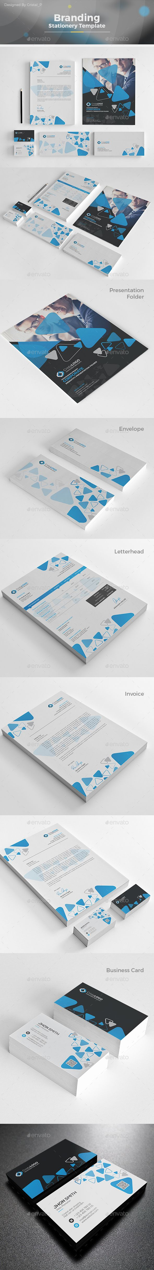 Branding Stationery Template Vector EPS, AI Illustrator