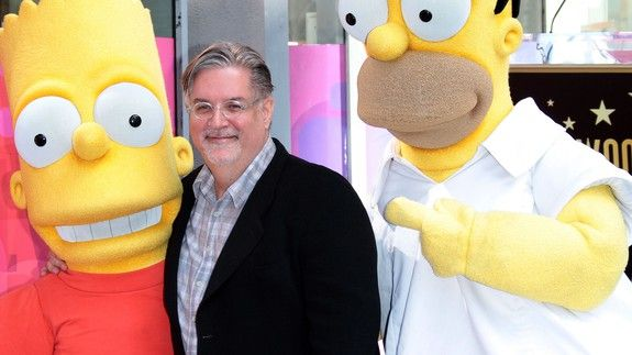 'Simpsons' creator Matt Groening leads chant against Trump at Comic-Con