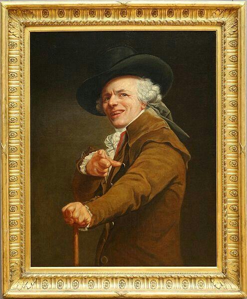 Joseph Ducreux, Autoritratto dell'artista che prende in giro, 1793